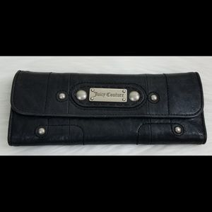 Juicy Couture Black Leather Elongated Wallet